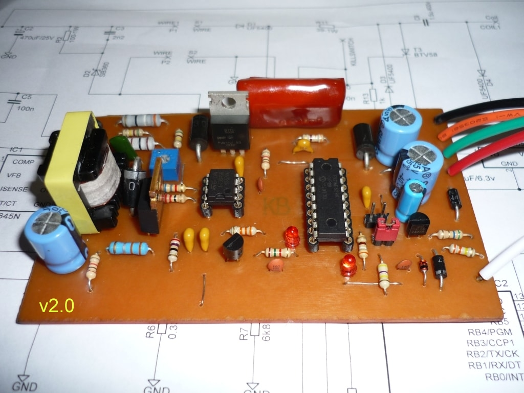 Dc Cdi 16f628 V21 Transmic Shows You How To Build A Dcdc Schematichere39s Circuit